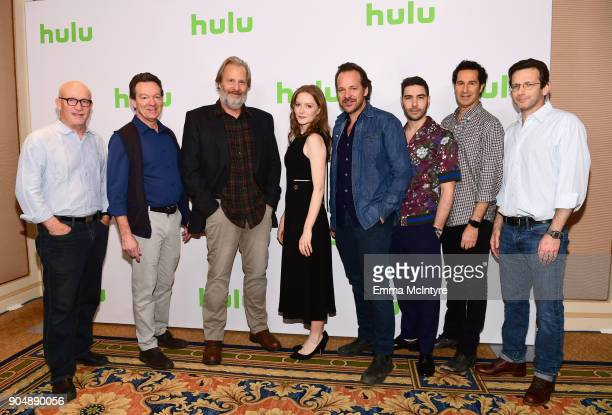 Alex Gibney Lawrence Wright Jeff Daniels Wrenn Schmidt Peter Sarsgaard Tahar Rahim Craig Zisk and Danny Futterman attend the Hulu Winter TCA at...
