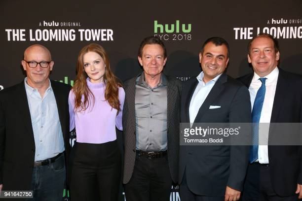 Alex Gibney Wrenn Schmidt Lawrence Wright Ali Soufan and Bill Camp attend the The Looming Tower FYC screening at the Television Academy on April 3...