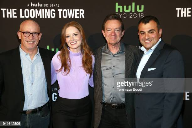 Alex Gibney Wrenn Schmidt Lawrence Wright and Ali Soufan attend the The Looming Tower FYC screening at the Television Academy on April 3 2018 in Los...