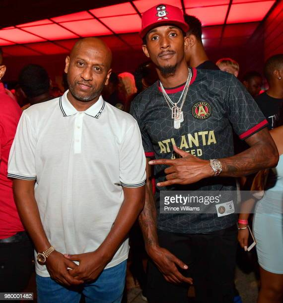 Alex Gidewon and Lou Williams attends Birthday Bash Celebration Hosted by Lil Baby Trey Songz and YFN Lucci at Compound on June 17 2018 in Atlanta...