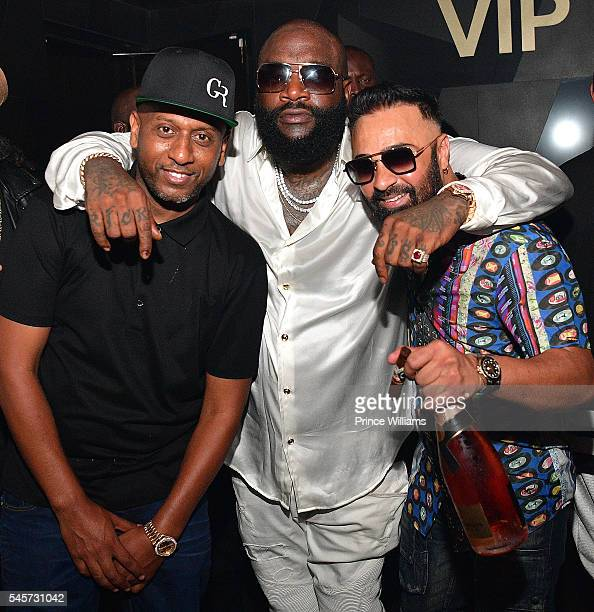 Alex Gidewon and Rick Ross attend a Party at Gold Room on July 4 2016 in Atlanta Georgia