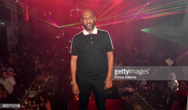 Alex Gidewon attends All Star Weekend Migos Album Release Party at Boulevard3 on February 19 2018 in Hollywood California