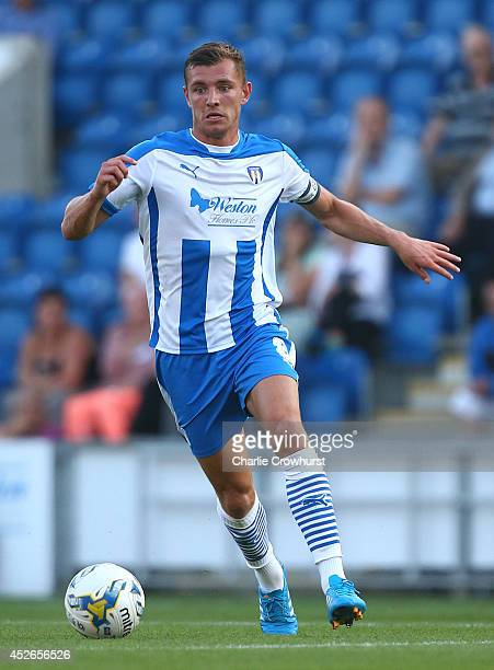 Alex Gilbey of Colchester looks to attack during the Pre Season Friendly match between Colchester United and Ipswich Town at The Weston Homes...