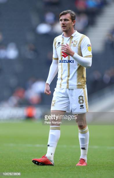 Alex Gilbey of Milton Keynes Dons in action during the Sky Bet League Two match between Milton Keynes Dons and Northampton Town at Stadium mk on...