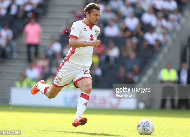 Alex Gilbey of Milton Keynes Dons in action during the Sky Bet League One match between Milton Keynes Dons and Oxford United at StadiumMK on...