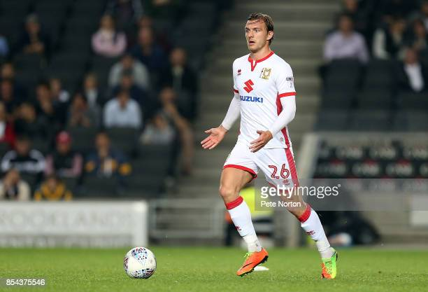 Alex Gilbey of Milton Keynes Dons in action during the Sky Bet League One match between Milton Keynes Dons and Northampton Town at StadiumMK on...