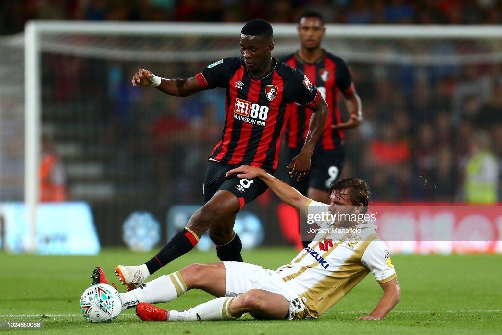 AFC Bournemouth v Milton Keynes Dons - Carabao Cup Second Round : Nachrichtenfoto