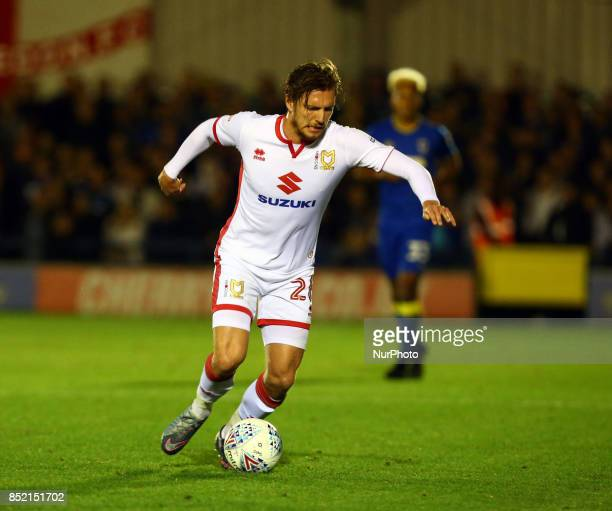 Alex Gilbey of MK Dons during Sky Bet League One match between AFC Wimbledon and MK Dons at Kingsmeadow Stadium London England on 22 Sept 2017