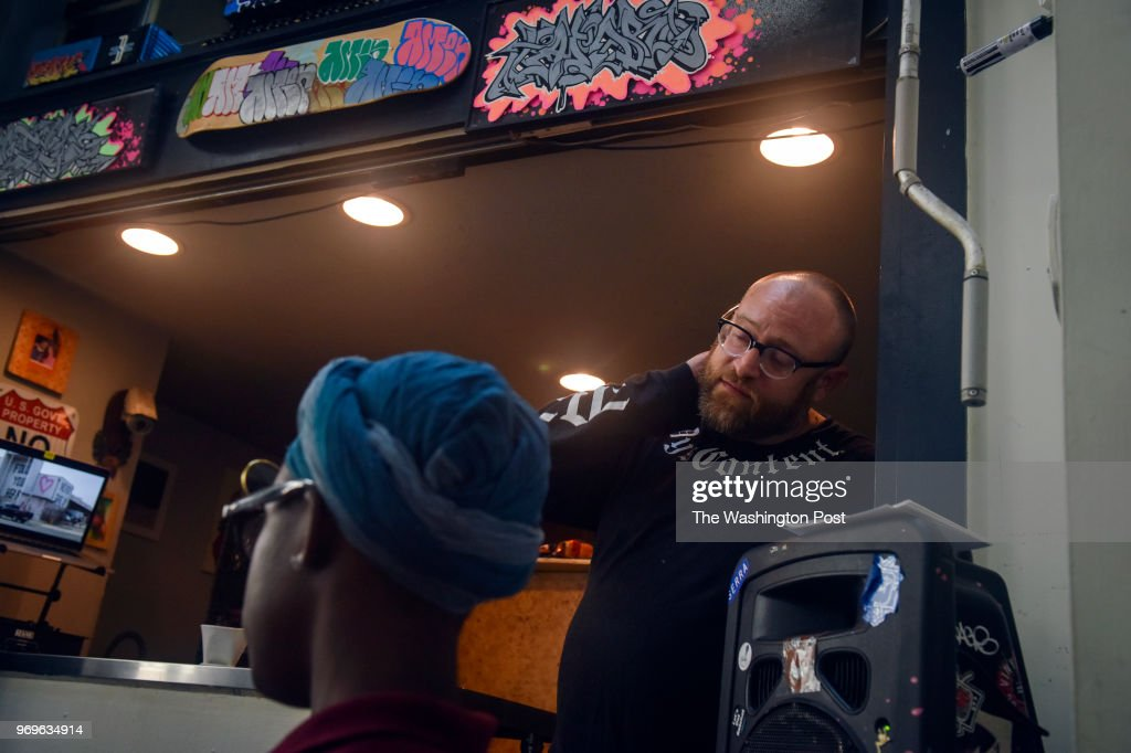Alex Goldstein, pictured at his Capitol Hill/Navy Yard area art gallery, The Fridge DC, is helping teenager Lauryn Renford organize a mural commemorating her slain boyfriend, Zaire Kelly, and other youth victims of gun violence, on Friday, June 1, 2018, in Washington, DC. Renford, a student at Thurgood Marshall High School, says having the public painting, which will be on the wall of an adjacent building, is an effort to wake DC residents up to the gun epidemic plaguing various neighborhoods throughout the city. Since the shooting, she said, she's taken up the mantle of fighting gun-violence in DC communities and hopes this mural will be a visual reminder to DC residents of the toll guns take.