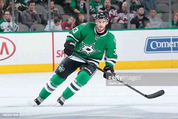 Alex Goligoski of the Dallas Stars skates against the New Jersey Devils at the American Airlines Center on December 13 2014 in Dallas Texas