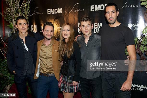 Alex Gonzalez and Churi Gonzalez attend 'El Mundo De Murphy' new album presentation at Joy Eslava on October 16 2014 in Madrid Spain