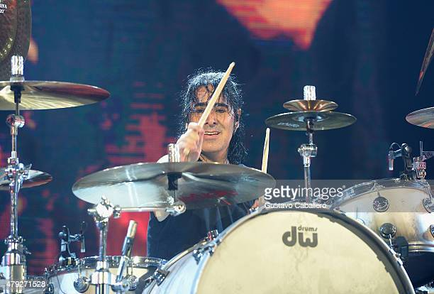 Alex Gonzalez of Charttopping band Mana performs at American Airlines Arena on the Miami stop of their Cama Incediada tour sponsored by Chivas Regal...