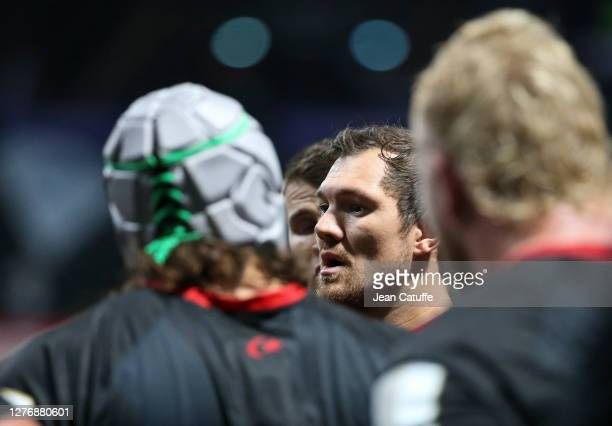 Alex Goode of Saracens during the Heineken Champions Cup Semi Final match between Racing 92 and Saracens at Paris La Defense Arena on September 26...