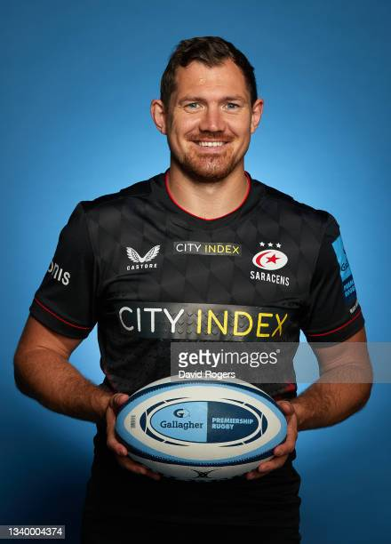 Alex Goode of Saracens poses for a photo during the Gallagher Premiership Rugby Season Launch at Twickenham Stadium on September 09, 2021 in London,...