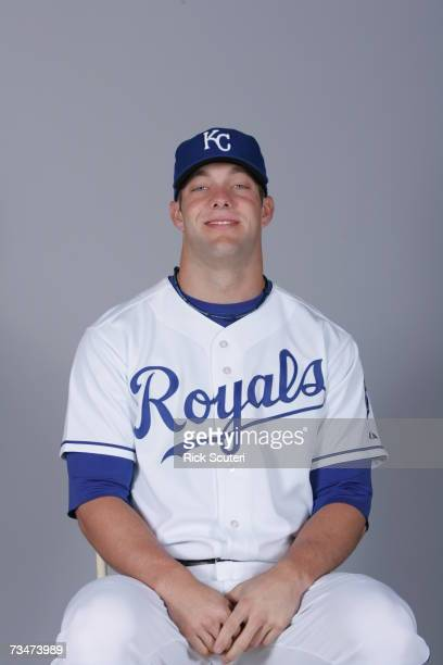 Alex Gordon of the Kansas City Royals poses during photo day at Surprise Stadium on February 25 2007 in Surprise Arizona