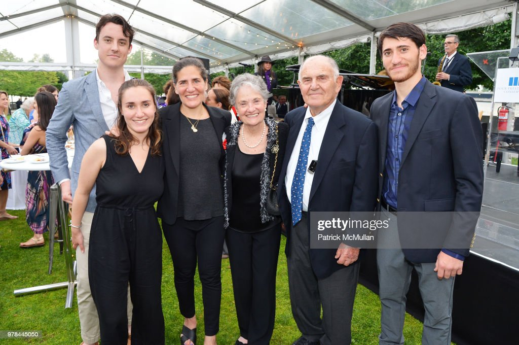 Alex Gore, Brice Rothenberg, Zerline Goodman, Fritzy Goodman, Jack Goodman and Garon Rothenberg attend the Franklin D. Roosevelt Four Freedoms Park's gala honoring Founder Ambassador William J. Vanden Heuvel at Franklin D. Roosevelt Four Freedoms Park on June 13, 2018 in New York City.