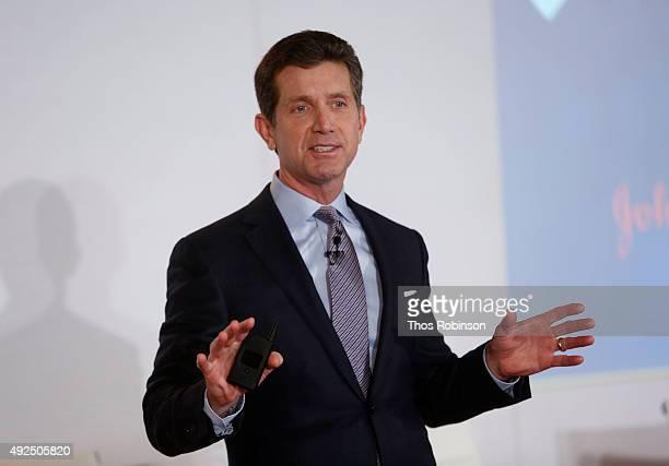 Alex Gorsky, chairman & CEO of Johnson & Johnson speaks at Johnson & Johnson & NBC's Triumph Games 2015 Talk with Al Roker and CEO of Johnson &...