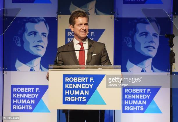 Alex Gorsky speaks onstage during Robert F Kennedy Human Rights Hosts Annual Ripple Of Hope Awards Dinner on December 13 2017 in New York City