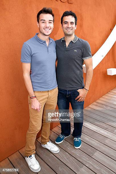 Alex Goude and Romain Thailandais attend the 2015 Roland Garros French Tennis Open - Day Twelve, on June 4, 2015 in Paris, France.