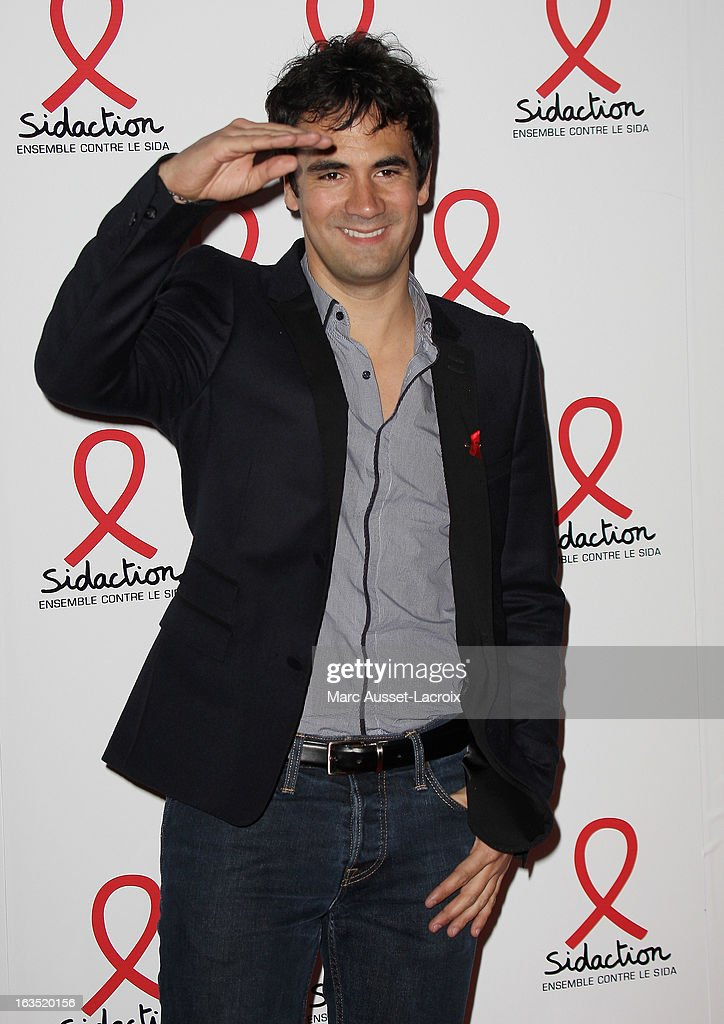 Alex Goude poses during the Sidaction 2013 - Photocall at Musee du Quai Branly on March 11, 2013 in Paris, France.