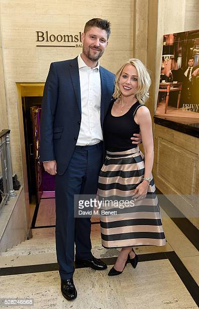 Alex Goward and Laura Hamilton attend The London Cabaret Club launch party at The Bloomsbury Ballroom on May 4 2016 in London England