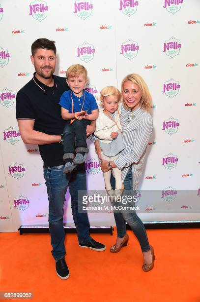 Alex Goward Tahlia Goward Rocco Goward and Laura Hamilton attend the UK premiere for brand new Nick Jr show 'Nella the Princess Knight' at 11...