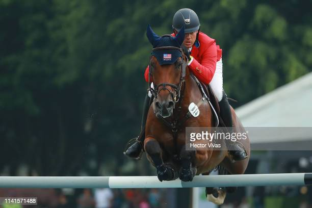 Alex Granato of United States riding Carlchen W competes during the Longines FEI Jumping Nations Cup Coapexpan on May 5 2019 in Jalapa Mexico