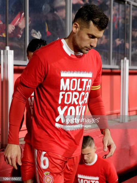 Alex Granell of Girona during the Spanish Copa del Rey match between Girona v Real Madrid at the Estadi Municipal Montilivi on January 31 2019 in...