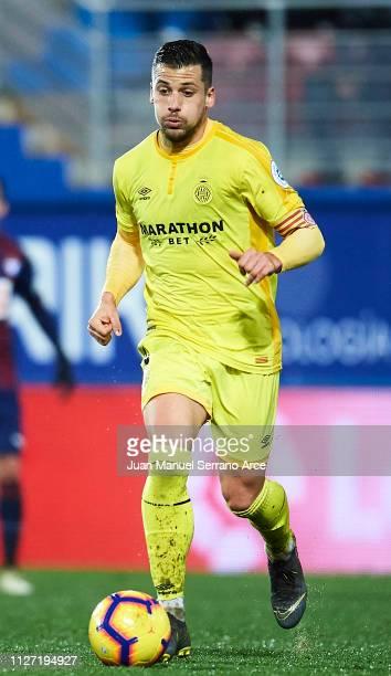 Alex Granell of Girona FC in action during the La Liga match between SD Eibar and Girona FC at Ipurua Municipal Stadium on February 02 2019 in Eibar...