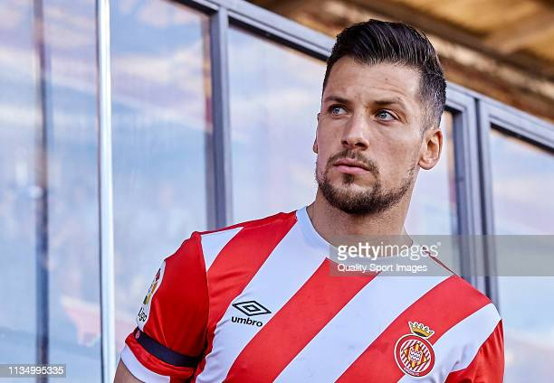 Alex Granell of Girona FC looks on before the La Liga match between Girona FC and Valencia CF at Montilivi Stadium on March 10 2019 in Girona Spain
