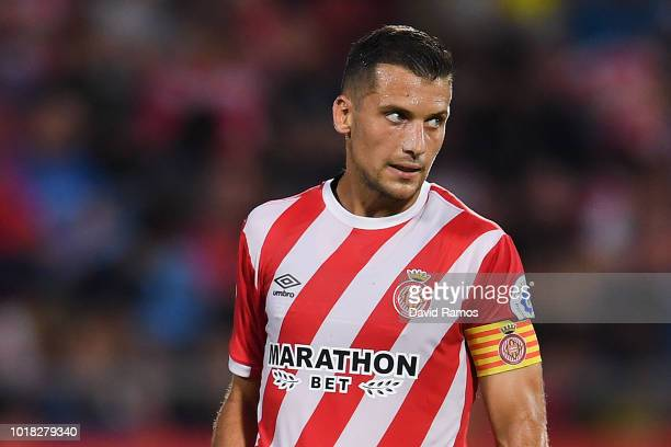 Alex Granell of Girona FC looks on during the La Liga match between Girona FC and Real Valladolid CF at Montilivi Stadium on August 17 2018 in Girona...
