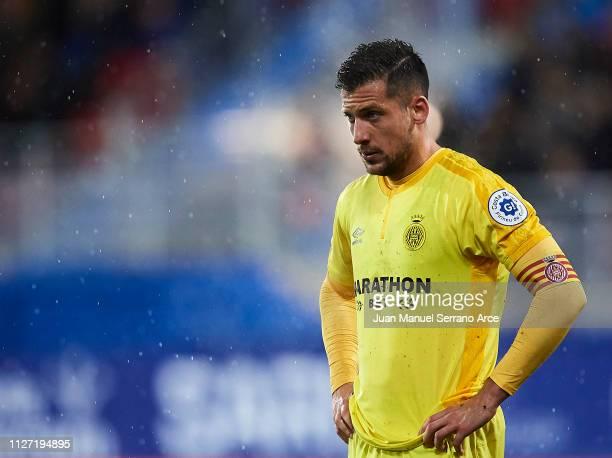 Alex Granell of Girona FC reacts during the La Liga match between SD Eibar and Girona FC at Ipurua Municipal Stadium on February 02 2019 in Eibar...