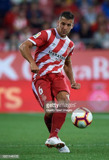 Alex Granell of Girona in action during the La Liga match between Girona FC and Real Valladolid CF at Montilivi Stadium on August 17 2018 in Girona...