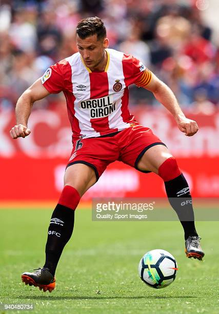Alex Granell of Girona in action during the La Liga match between Girona and Levante at Estadio Montilivi on March 31 2018 in Girona Spain
