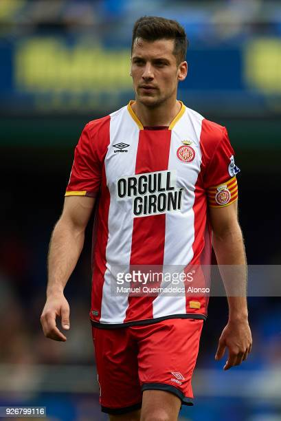 Alex Granell of Girona looks on during the La Liga match between Villarreal and Girona at Estadio de La Ceramica on March 3 2018 in Villarreal Spain