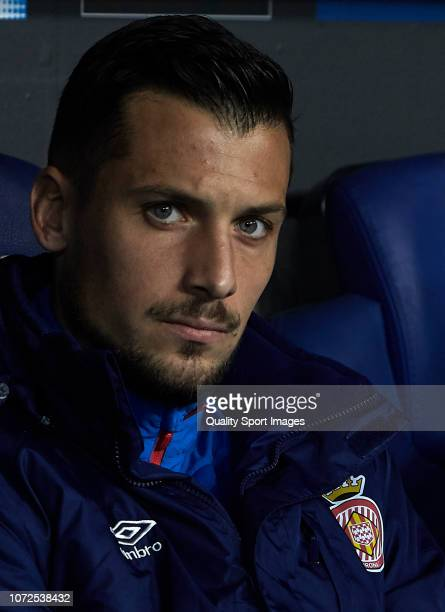 Alex Granell of Girona looks on prior to the La Liga match between RCD Espanyol and Girona FC at RCDE Stadium on November 25 2018 in Barcelona Spain