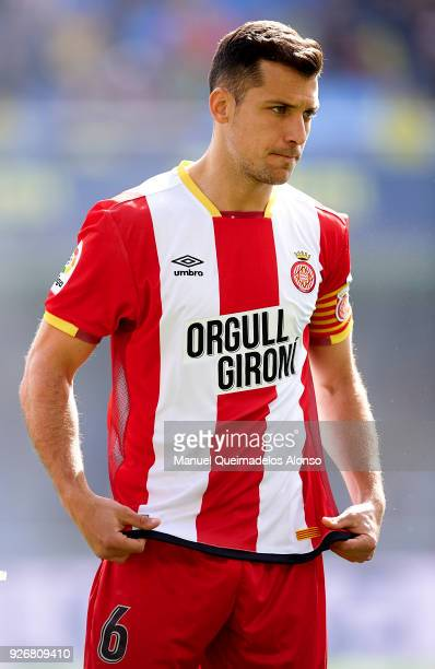 Alex Granell of Girona looks on prior to the La Liga match between Villarreal and Girona at Estadio de La Ceramica on March 3 2018 in Villarreal Spain