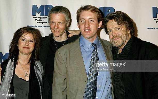 Alex Gray Rob Kampia and Jerry Perry Barlow attend the Marijuana Policy Reform Project Awards at Capitale June 12 2006 in New York City