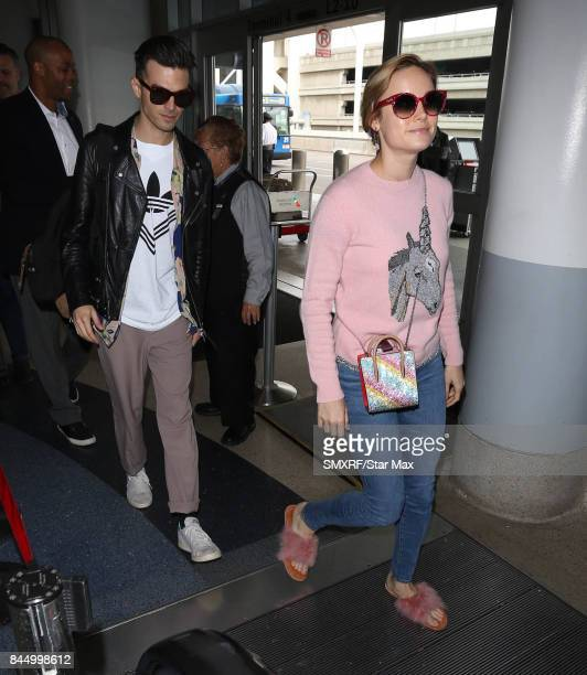 Alex Greenwald and Brie Larson are seen on September 9 2017 in Los Angeles California
