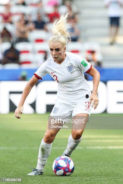 Alex Greenwood of England controls the ball during the 2019 FIFA Women's World Cup France 3rd Place match between England and Sweden at Stade de Nice...
