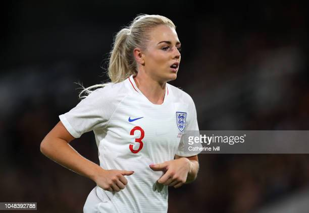 Alex Greenwood of England during the International Friendly between England Women and Australia Women at Craven Cottage on October 9 2018 in London...