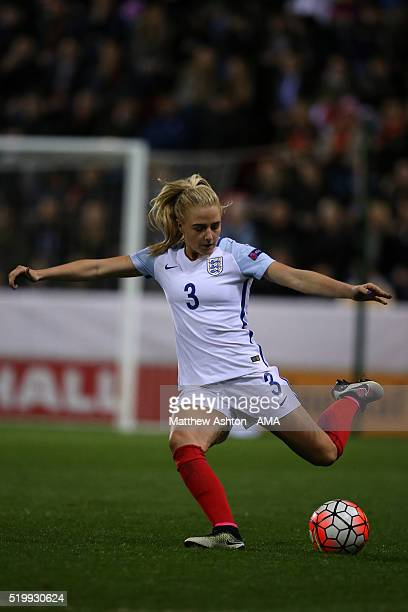 Alex Greenwood of England during the UEFA Women's European Qualifier between England and Belgium at The New York Stadium on April 8 2016 in Rotherham...