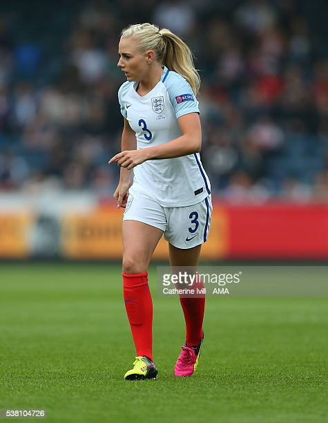 Alex Greenwood of England during the UEFA Women's European Championship Qualifier match between England and Serbia at Adams Park on June 4 2016 in...