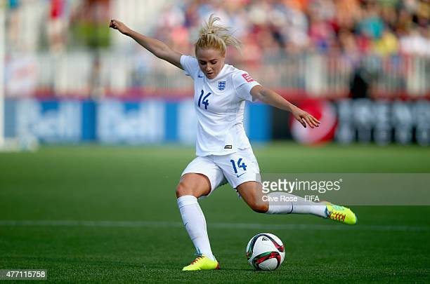 Alex Greenwood of England in action during the FIFA Women's World Cup 2015 Group F match between England and Mexico at Moncton Stadium on June 13...