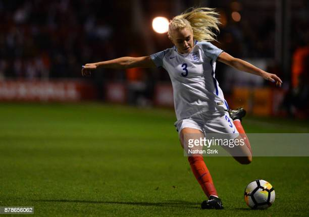 Alex Greenwood of England in action during the FIFA Women's World Cup Qualifier between England and Bosnia at Banks' Stadium on November 24 2017 in...