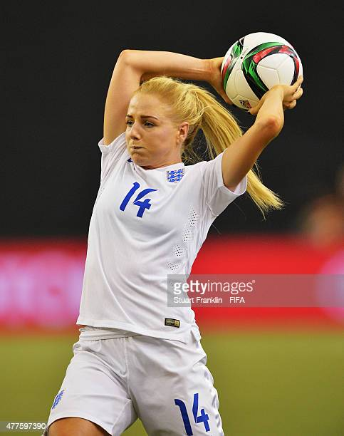 Alex Greenwood of England in action during the FIFA Womens's World Cup Group F match between England and Colombia at Olympic Stadium on June 17 2015...