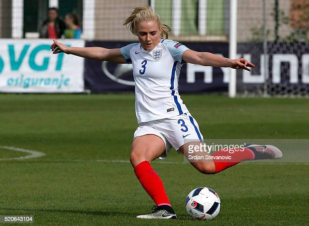 Alex Greenwood of England in action during the UEFA Women's European Championship Qualifier match between Bosnia and Herzegovina and England at FF...