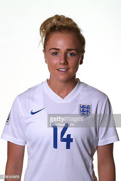 Alex Greenwood of England poses during a FIFA Women's World Cup portrait session on June 6 2015 in Moncton Canada