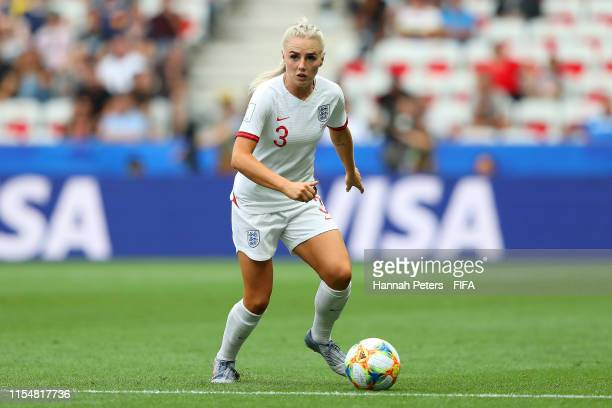 Alex Greenwood of England runs with the ball during the 2019 FIFA Women's World Cup France group D match between England and Scotland at Stade de...