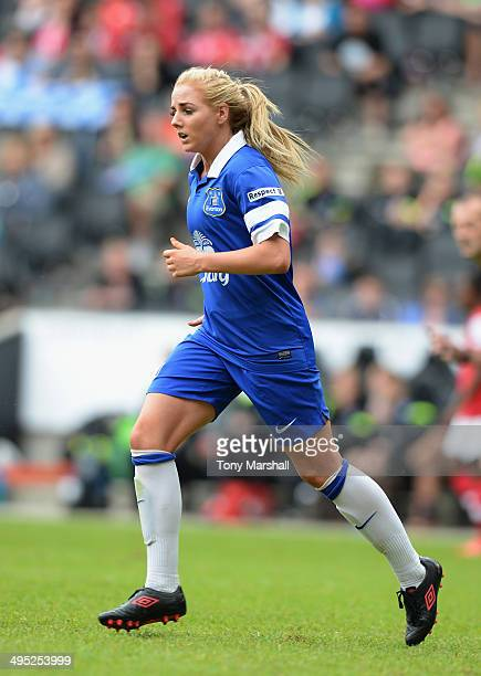 Alex Greenwood of Everton Ladies during the FA Women's Cup Final match between Everton Ladies and Arsenal Ladies at Stadium mk on June 1 2014 in...